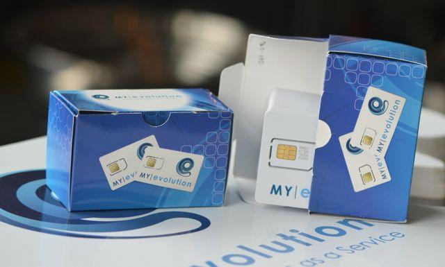 My Evolution SIM card packaging